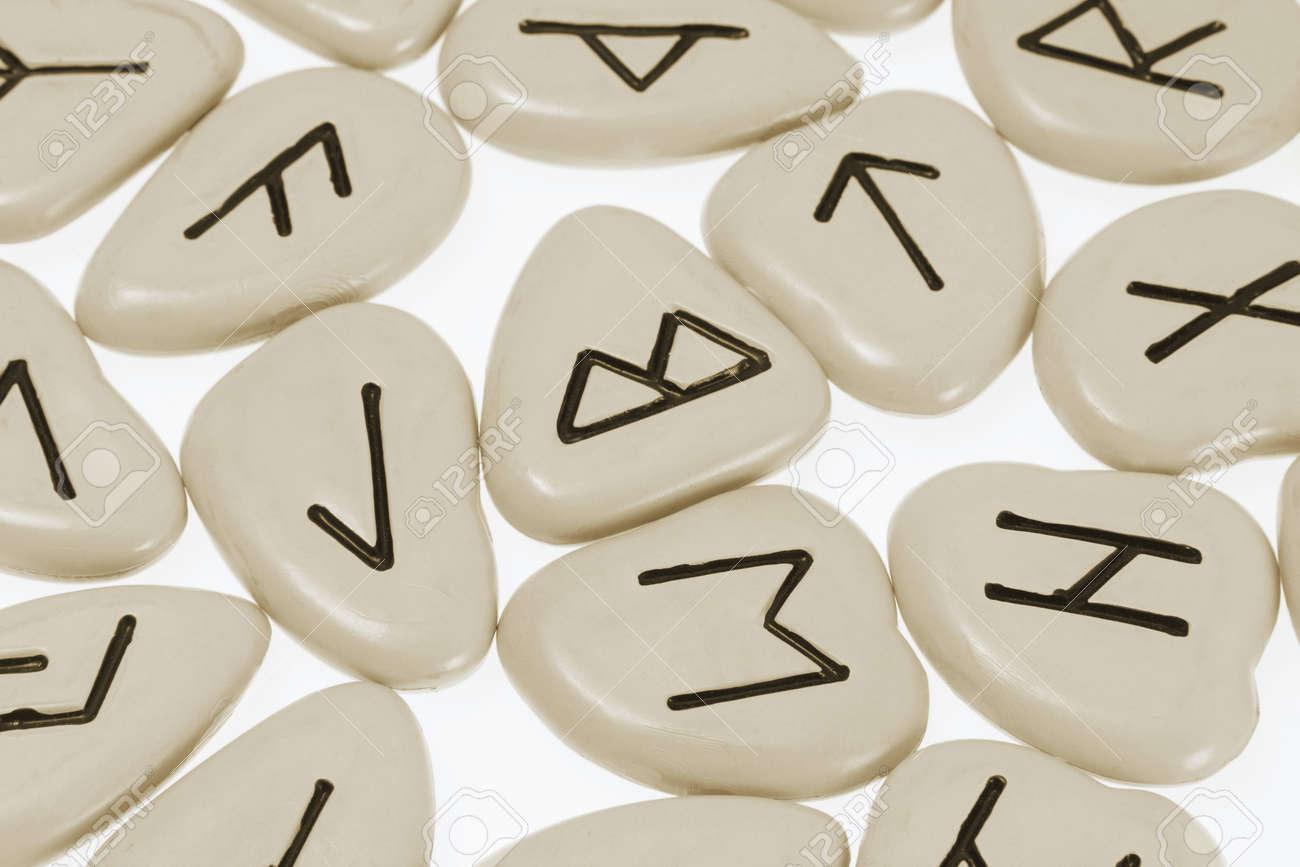 Close Up of Rune Stones Stock Photo - 7472722