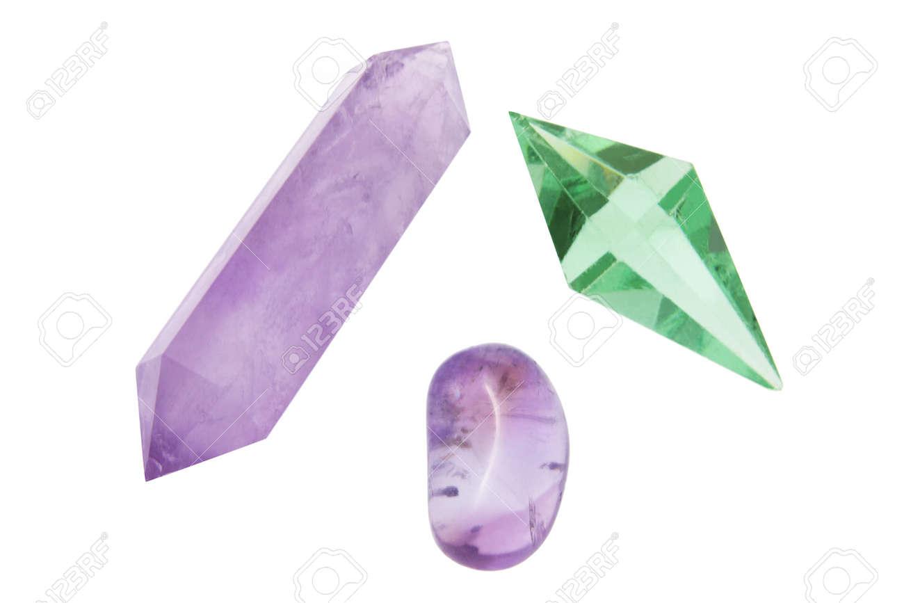 Quartz Crystals on White Background Stock Photo - 8358683
