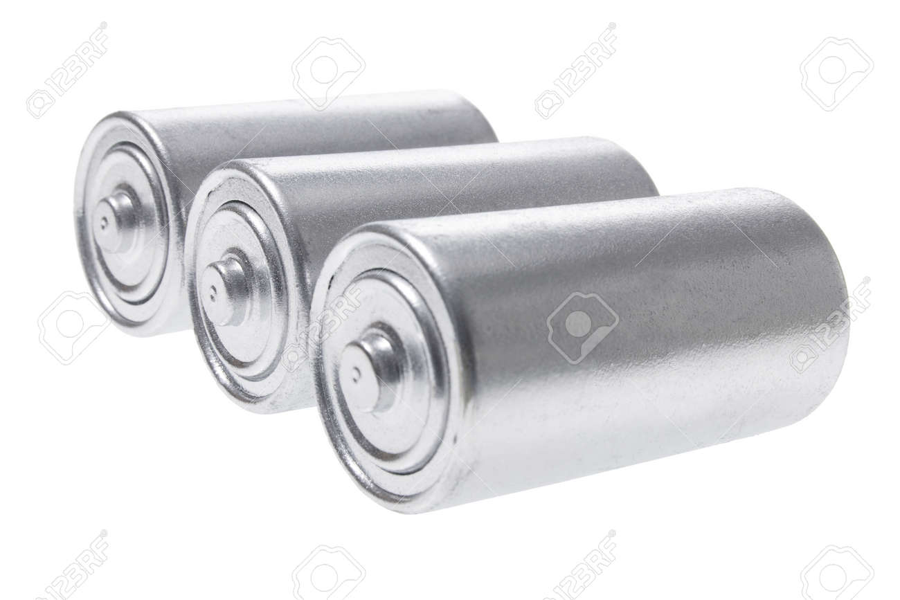 Batteries on White Background Stock Photo - 8858062