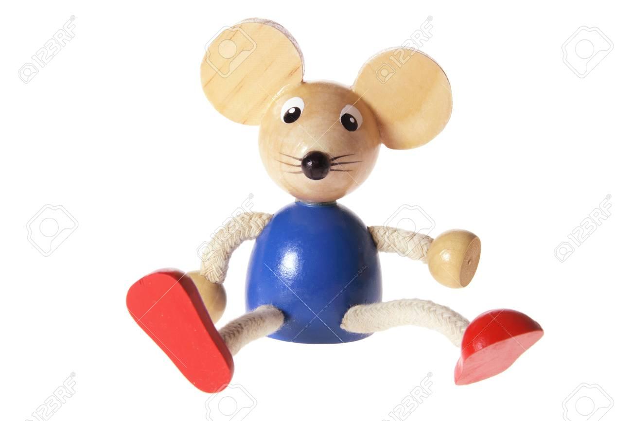 Mouse Toy on White Background Stock Photo - 9618069