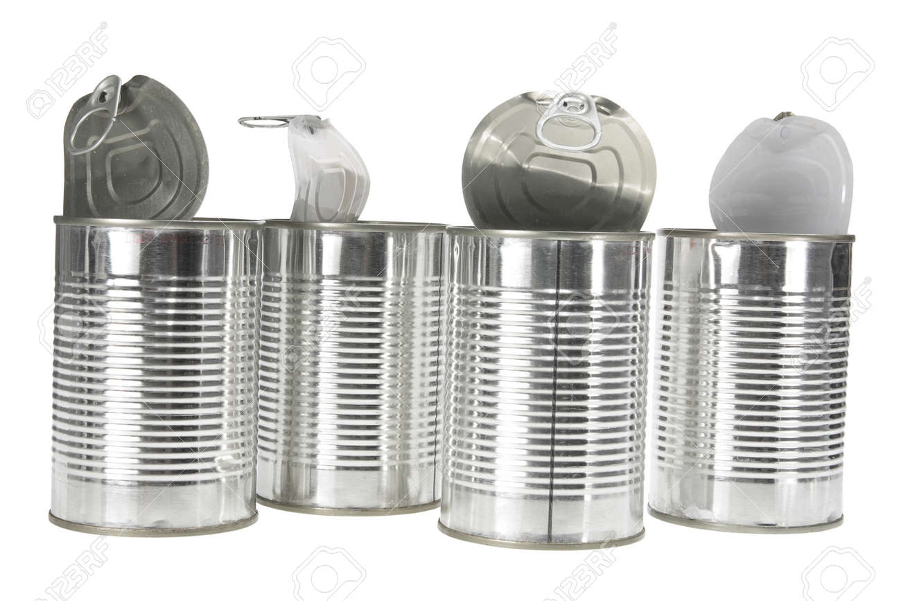 Metal food cans   Stock Photo   Colourbox