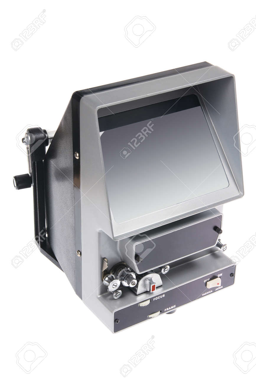 Vintage Film Editing Machine on White Background Stock Photo - 10613903