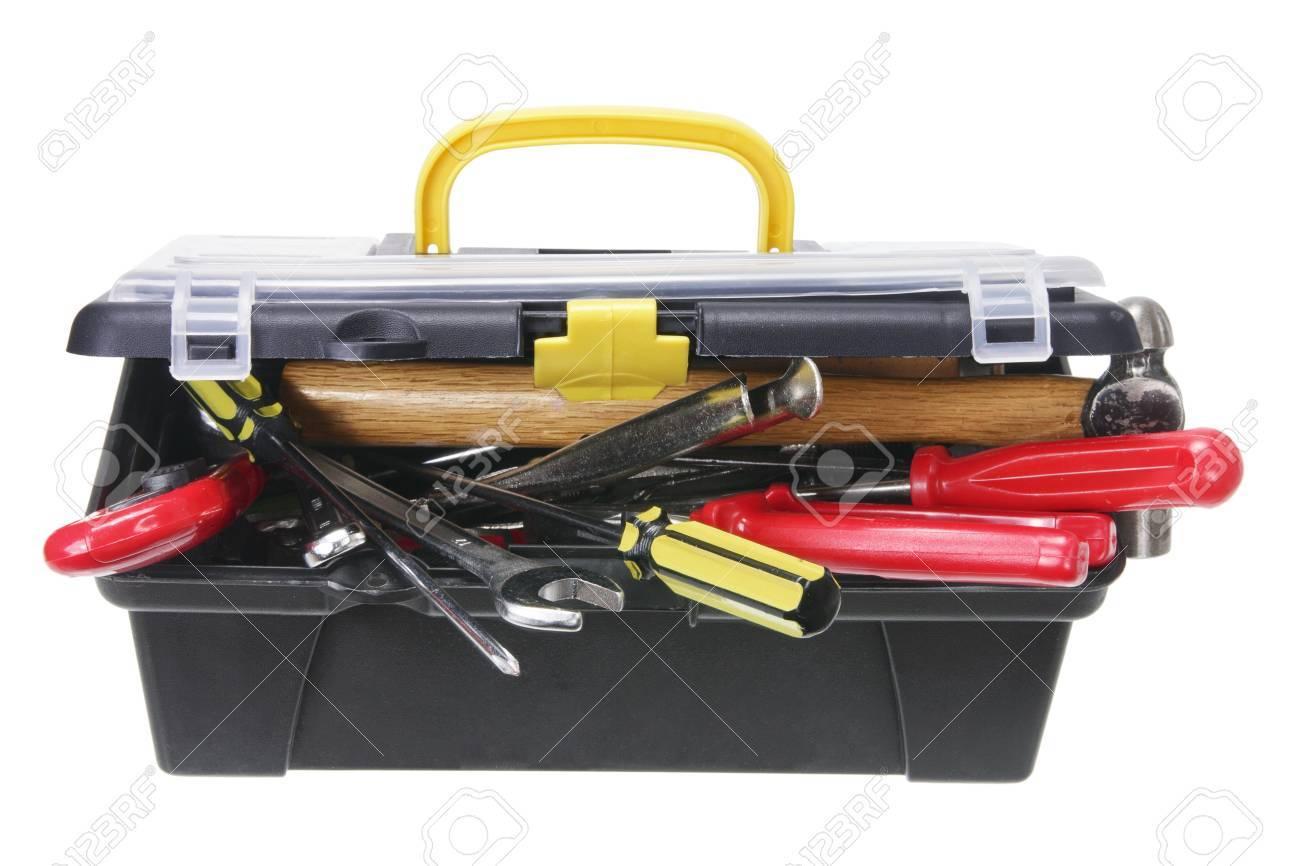 Tool Box on White Background Stock Photo - 11078141