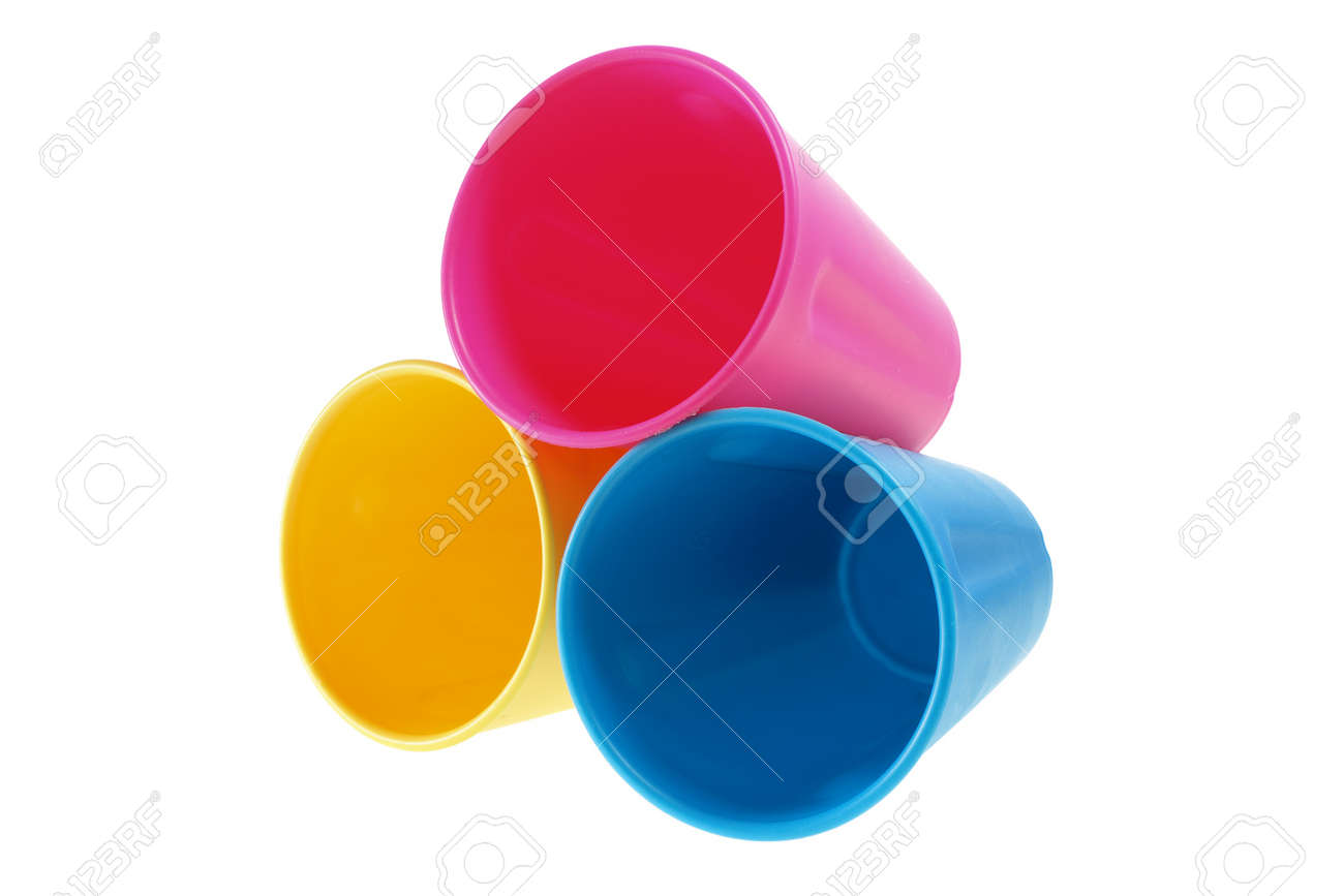 Plastic Cups on White Background Stock Photo - 11972316