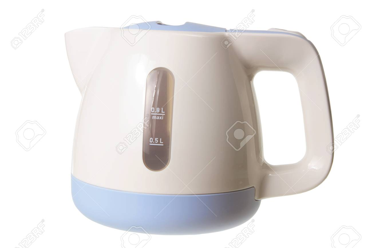 Electric Kettle on White Background Stock Photo - 13068933