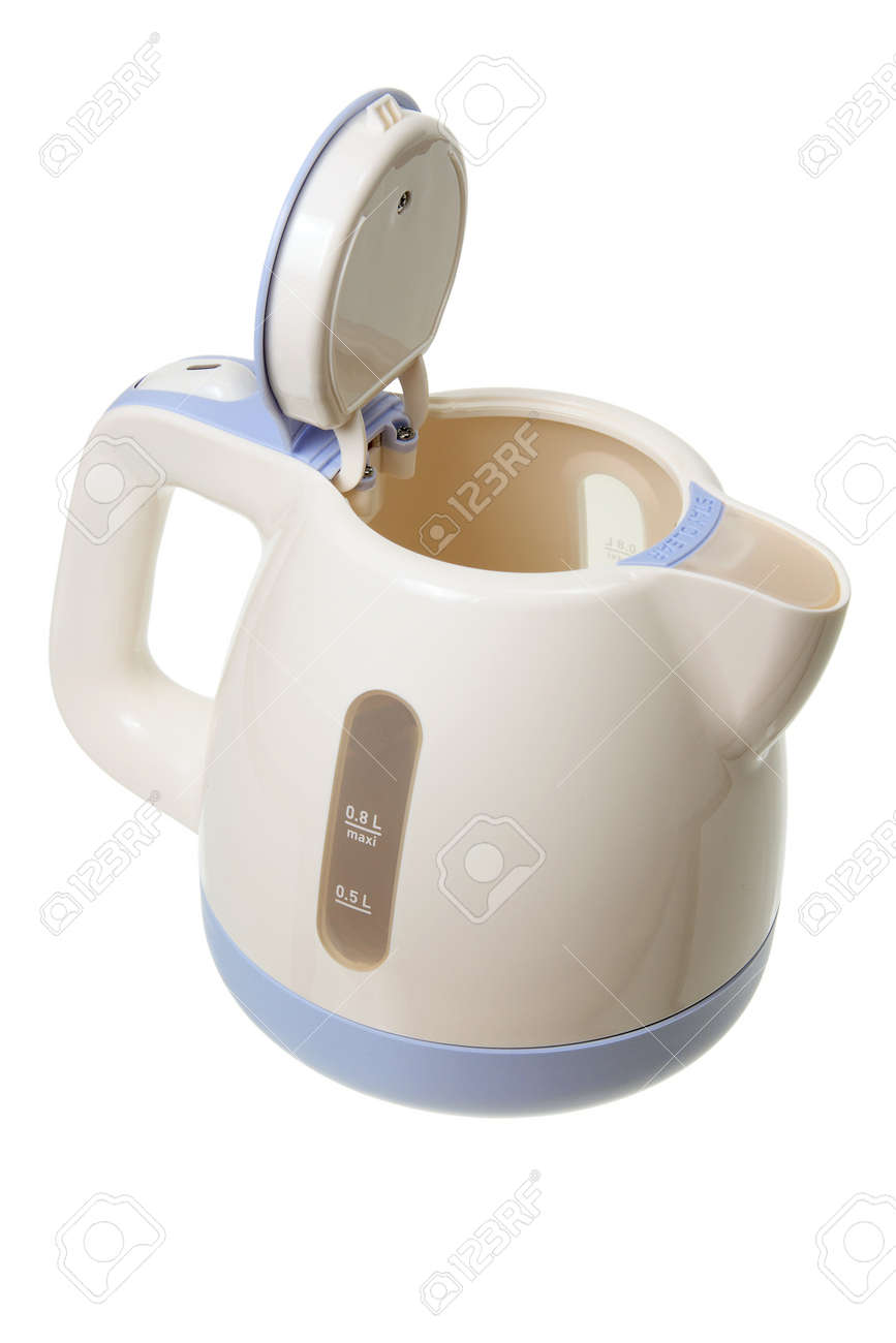 Electric Kettle on White Background Stock Photo - 13068943