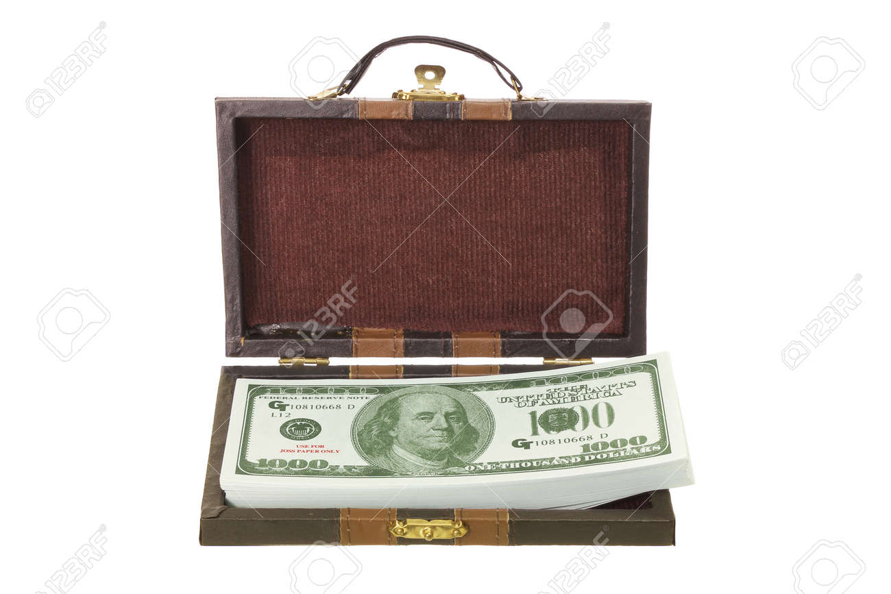 Bag of Notes on White Background Stock Photo - 13252492