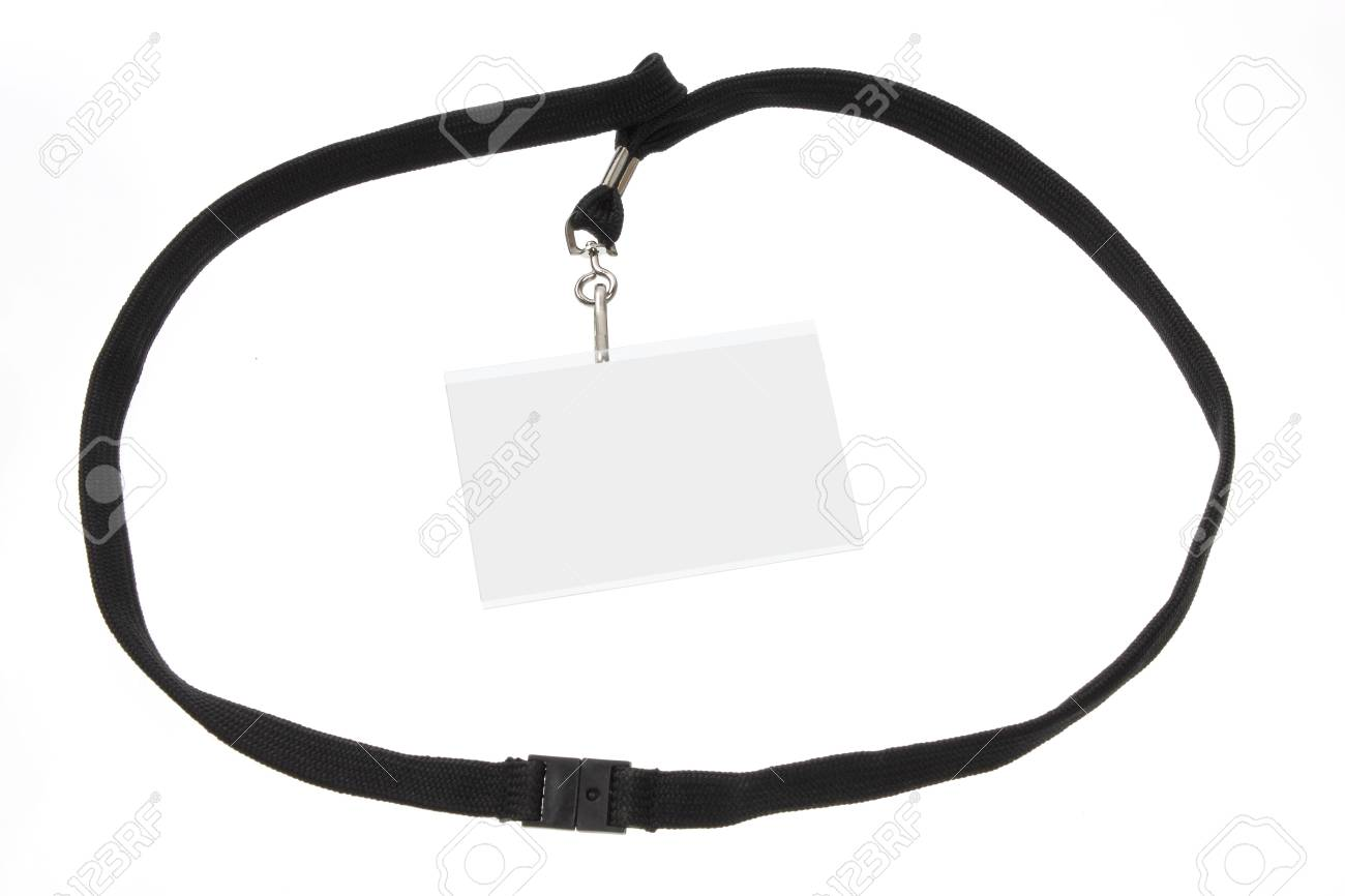 Name Tag on White Background Stock Photo - 13777977