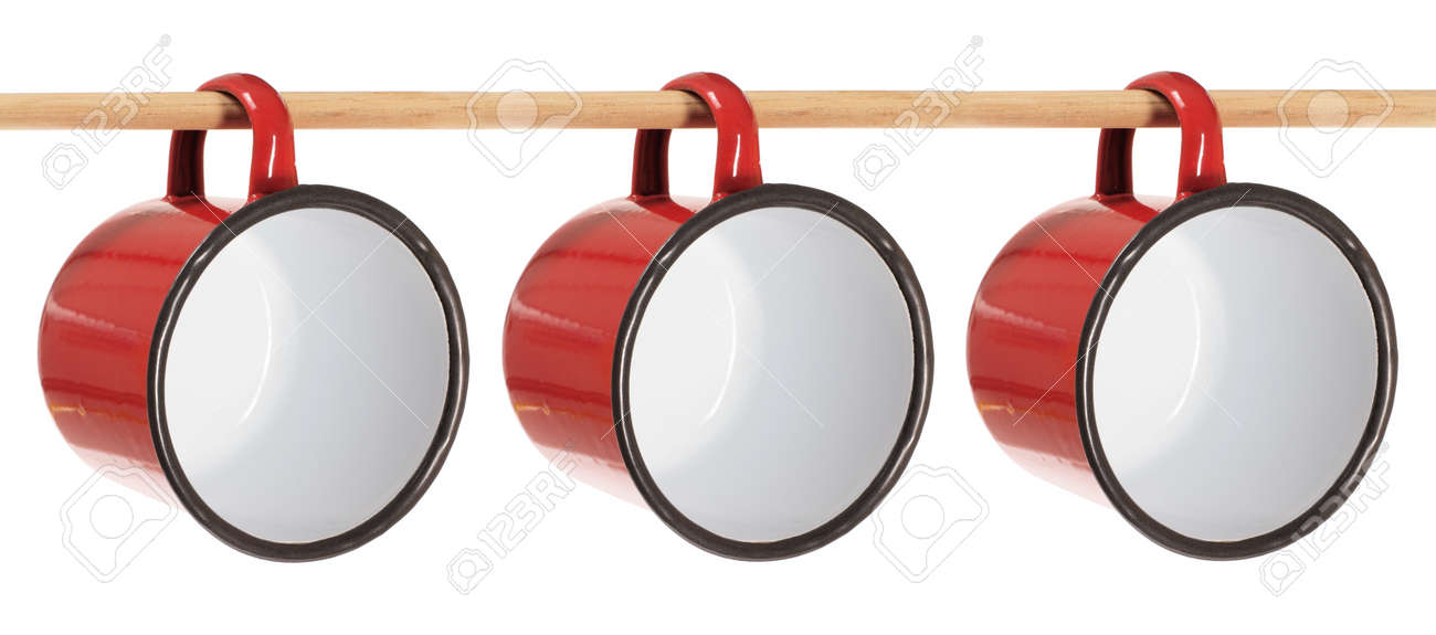 Tin Cups on White Background Stock Photo - 14317367