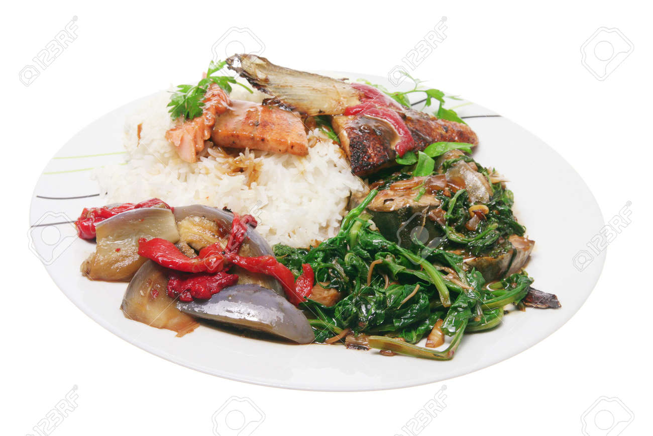 Chinese Mixed Dish on White Background Stock Photo - 14317389