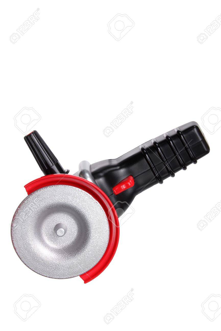 Toy Circular Saw on White Background Stock Photo - 15019661