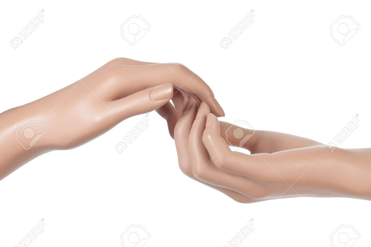 Mannequin Hands On White Background Stock Photo, Picture And Royalty ...
