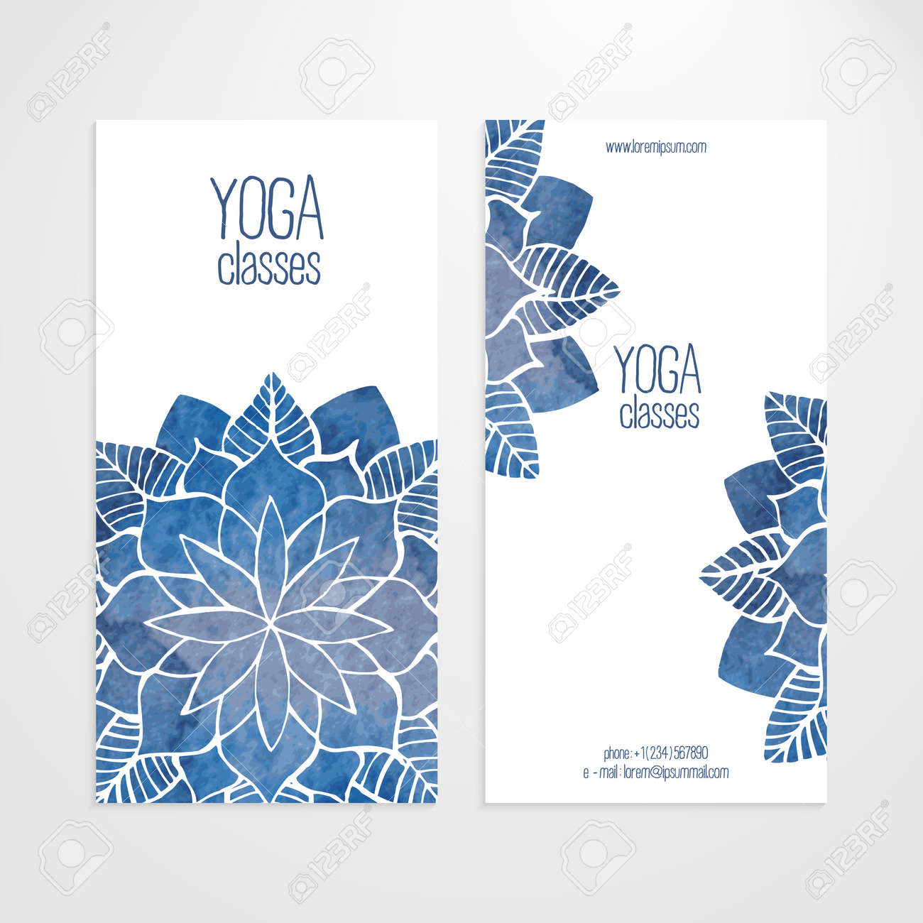 A Set Of Vector Vertical Banners Templates Watercolor Blue Abstract Royalty Free Cliparts Vectors And Stock Illustration Image 41985825