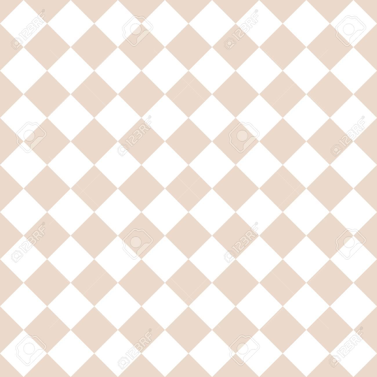 Abstract Simple Tile Rhombus Pattern. Almond Or Tender Pastel ...