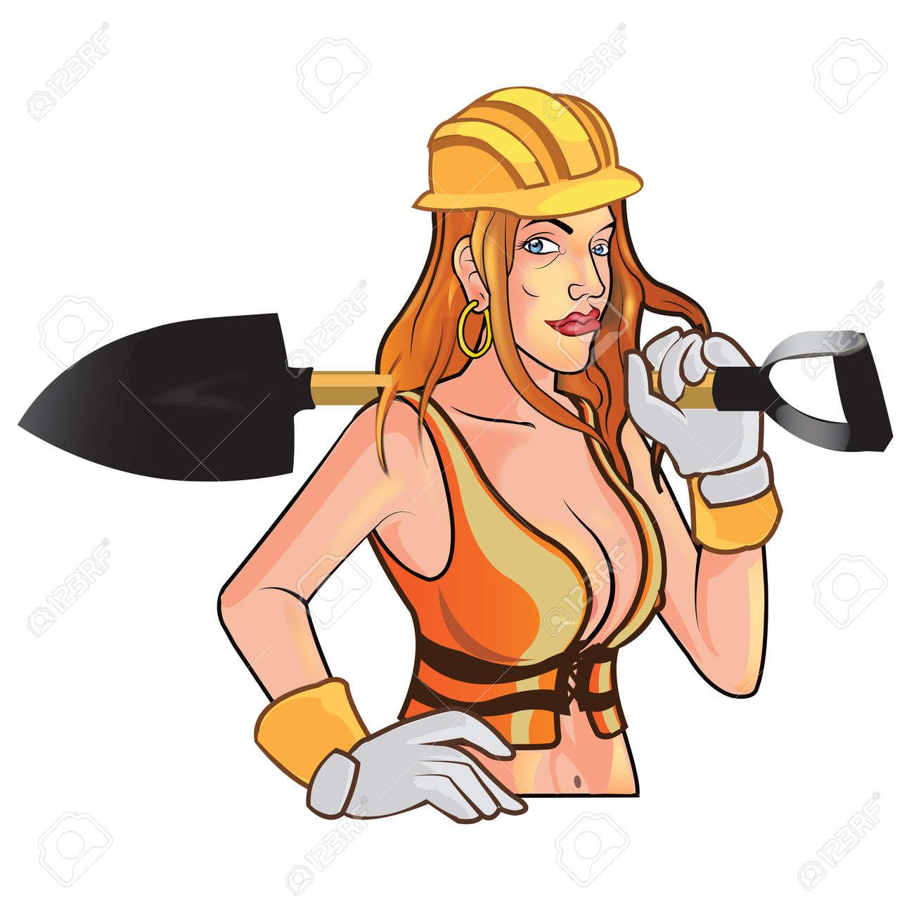 Bauarbeiter zeichnung  Sexy Bauarbeiter Lizenzfrei Nutzbare Vektorgrafiken, Clip Arts ...