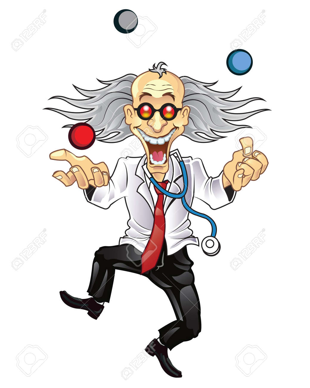 Funny Mad Doctor Stock Vector - 14562940