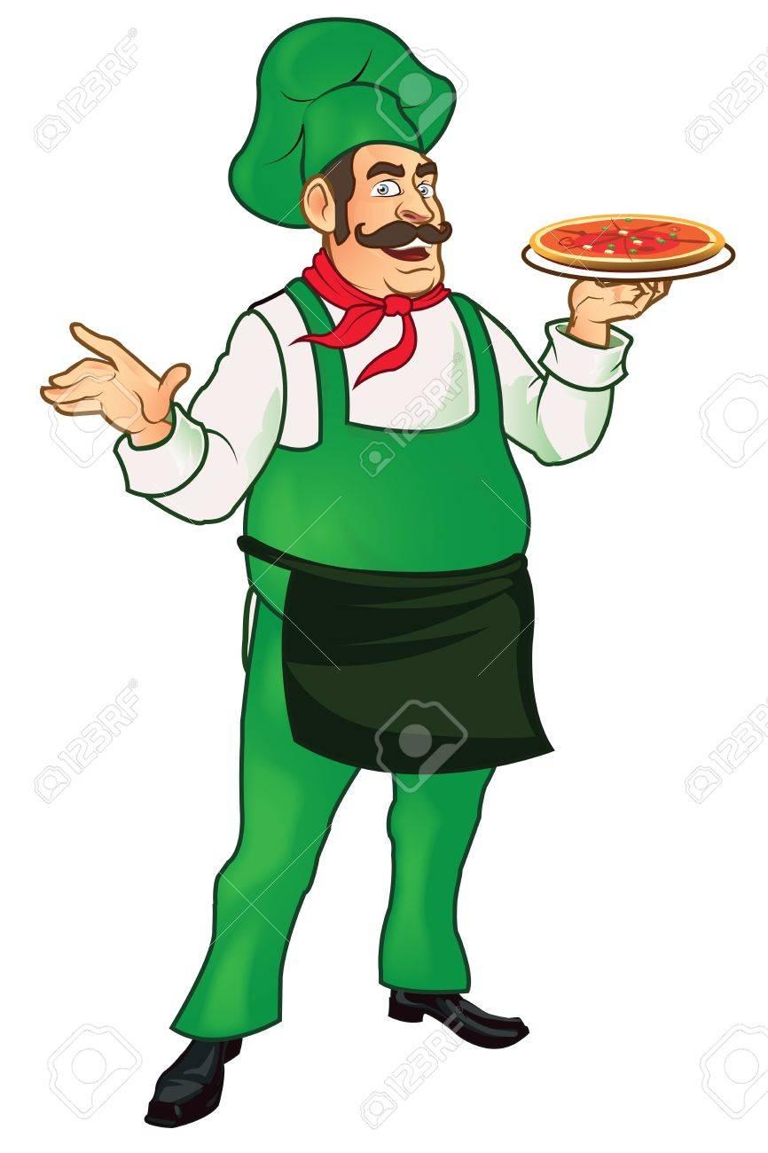 Pizza Man Stock Vector - 15327918