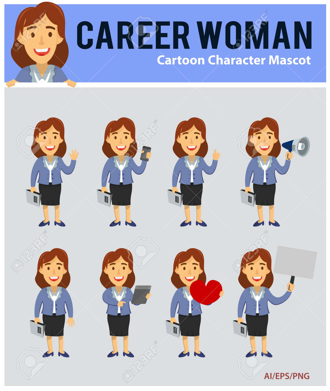 Career Woman Cartoon Mascot Royalty Free Cliparts Vectors And Stock Illustration Image 81929552