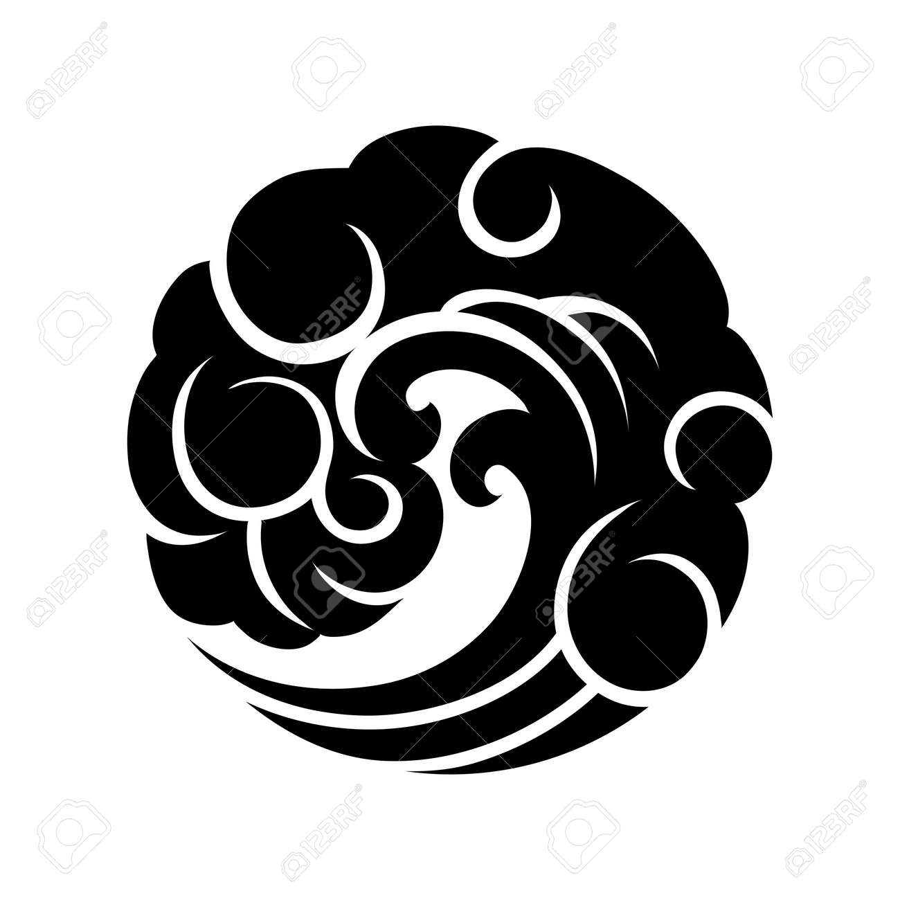 435 tide print cliparts stock vector and royalty free tide print abstract graphic wave in the shape of circle blackwork tattoo art or t shirt biocorpaavc