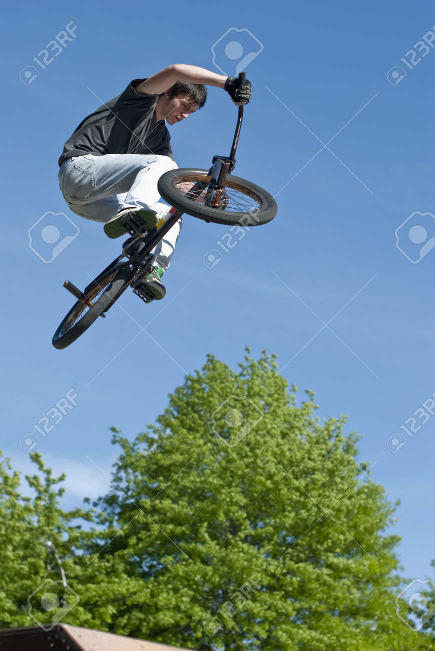 Bmx Bike Stunt on a skatepark. Stock Photo - 7239513