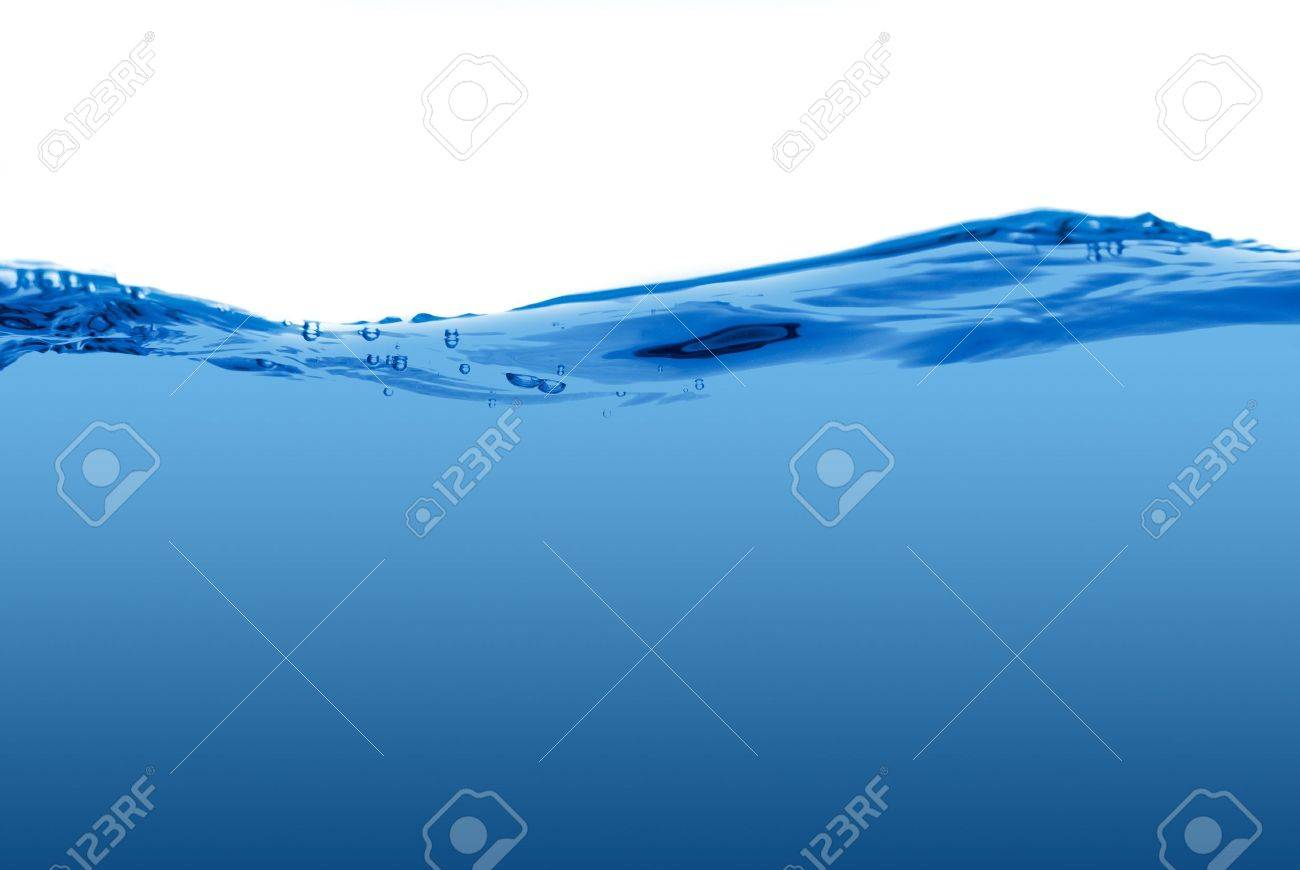 Blue water wave isolated on a white background. Stock Photo - 8093998