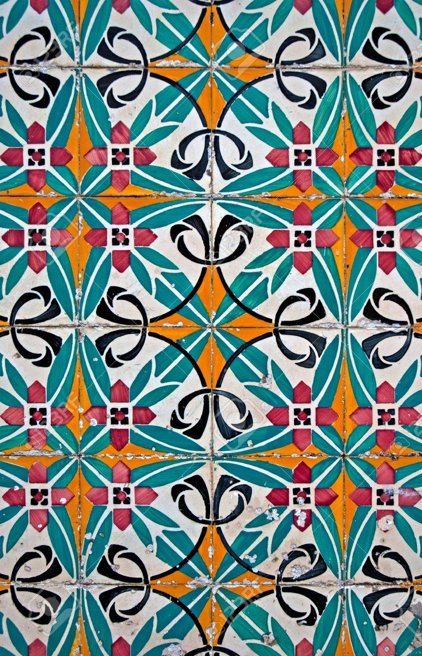 Old tiles detail abstract pattern. Stock Photo - 10381544