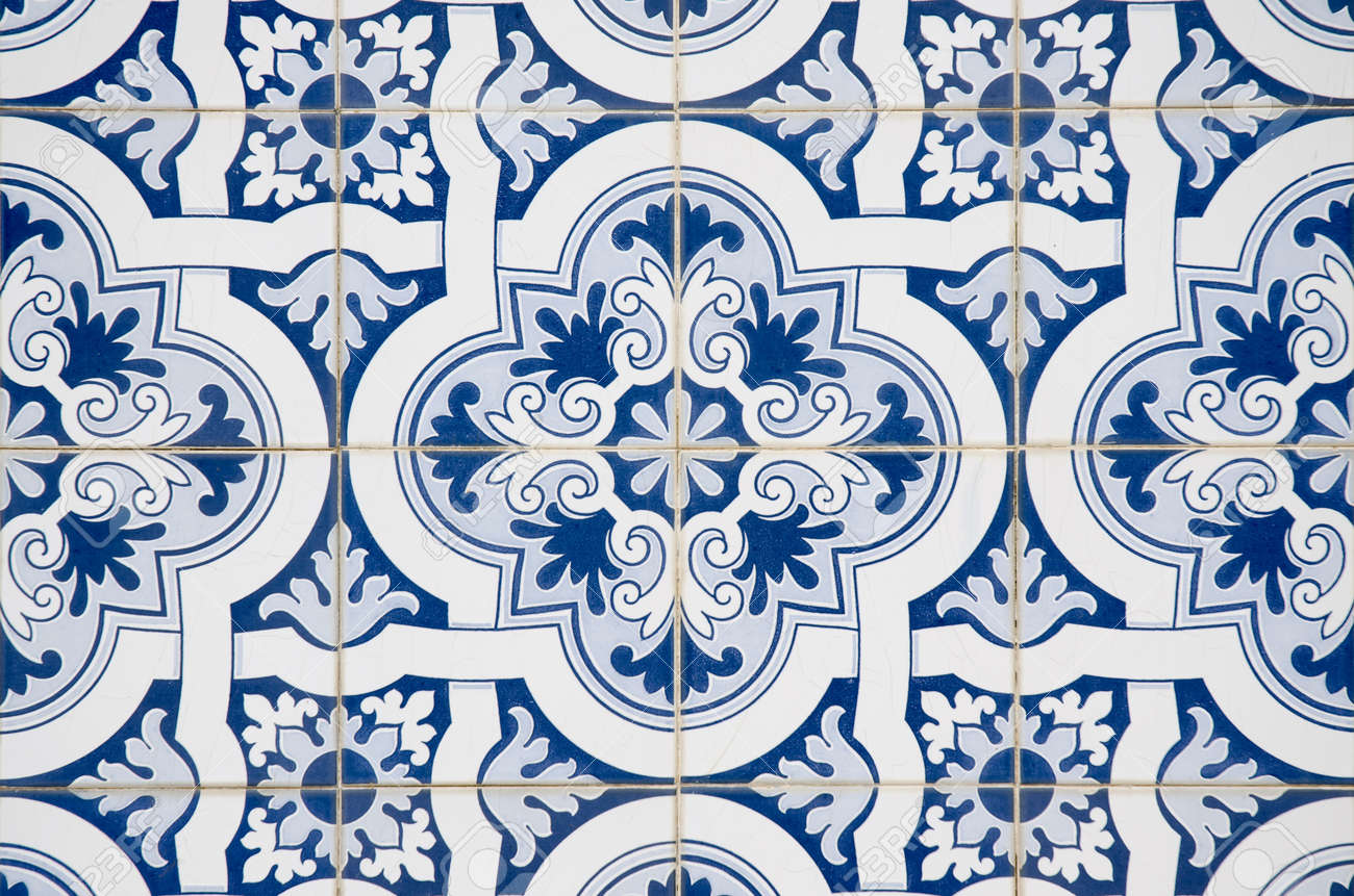 Backgrounds And Textures: Intricate Ceramic Tile Design. Stock Photo ...