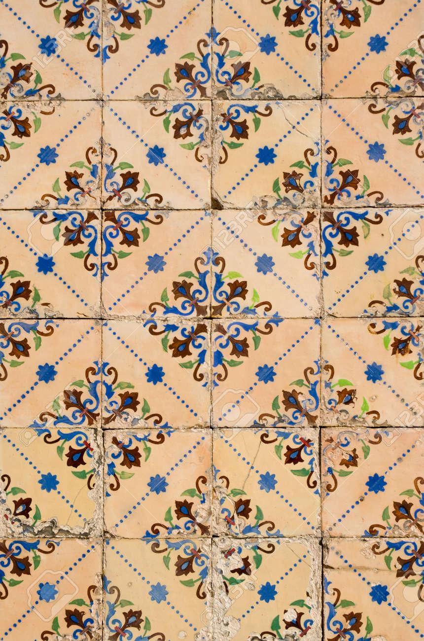 Detail of Portuguese glazed tiles. Stock Photo - 11962048