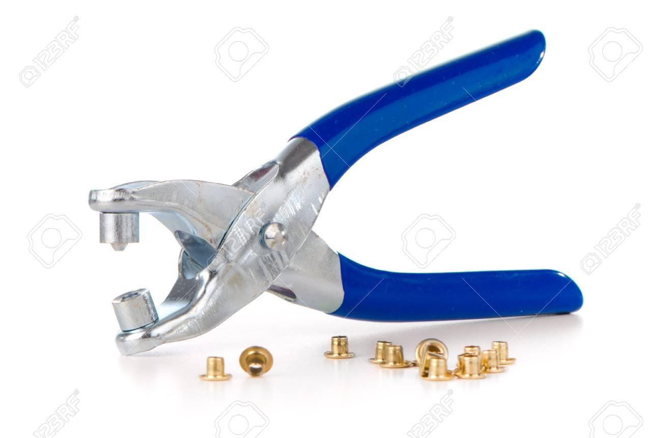 Werkzeug Zu Durchbohren Gürtel Und Schuhe Auf Weißem Hintergrund ...
