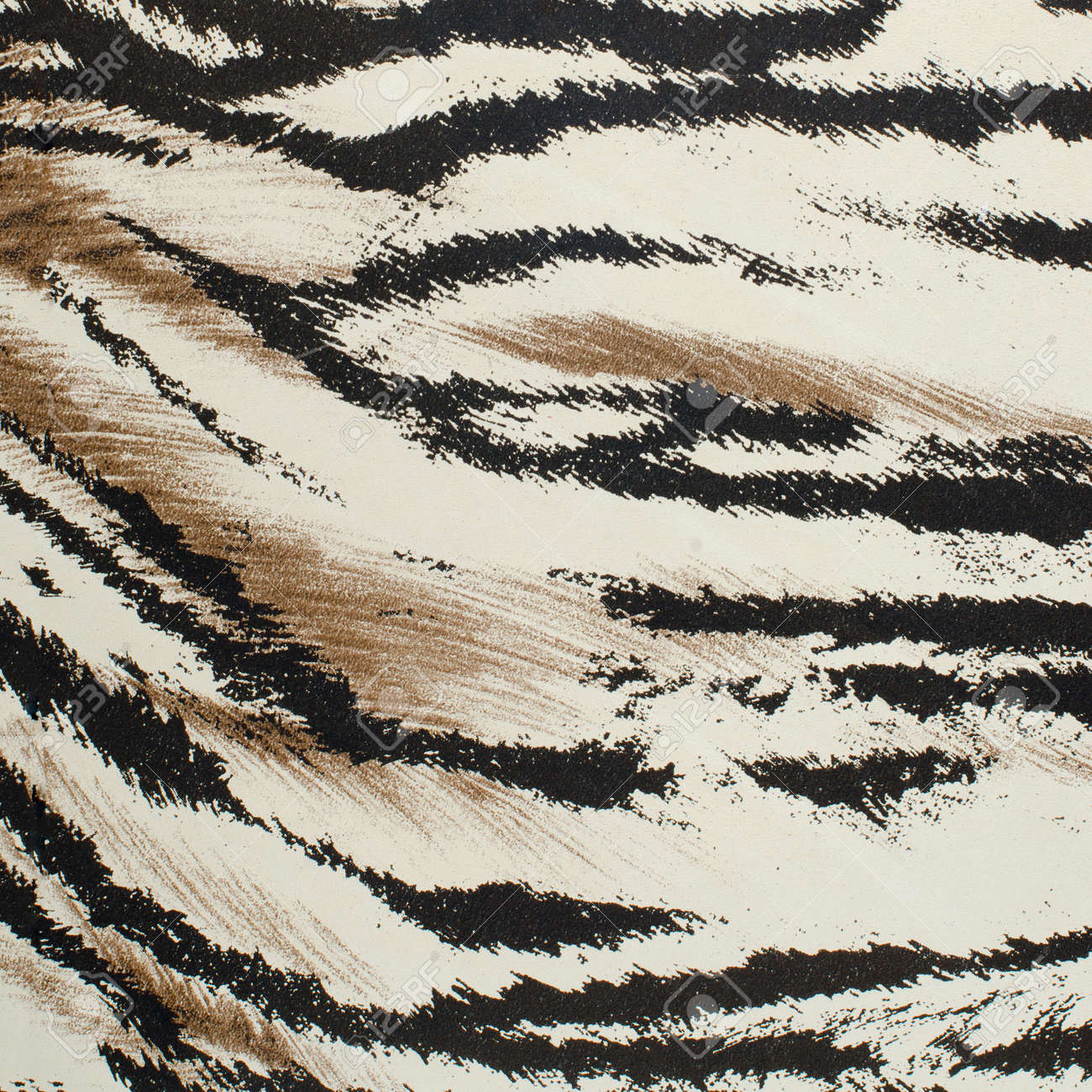 Brown and white tiger skin artificial pattern background. - 17834030