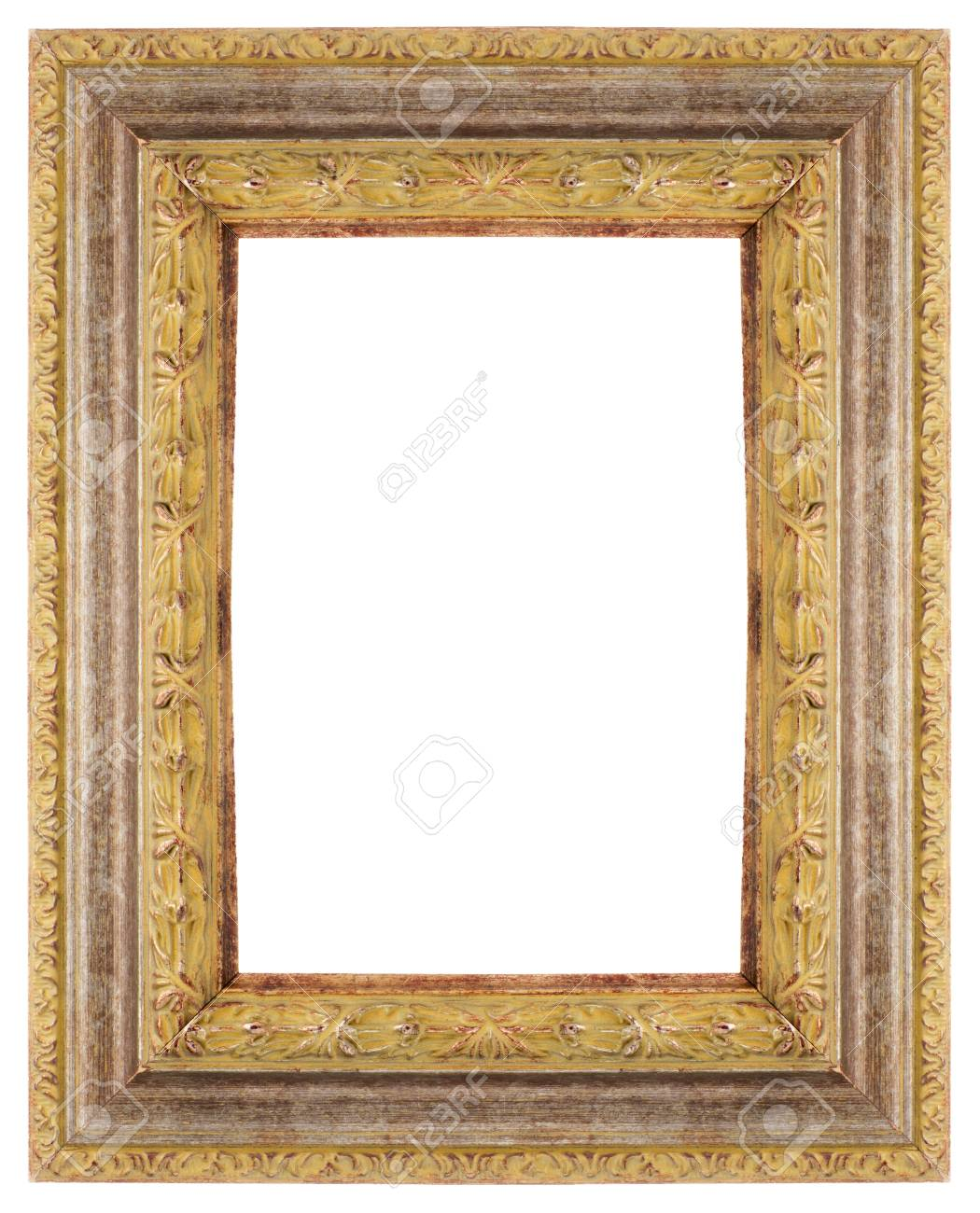 Wooden Frame For Paintings Or Photographs. Stock Photo, Picture And ...