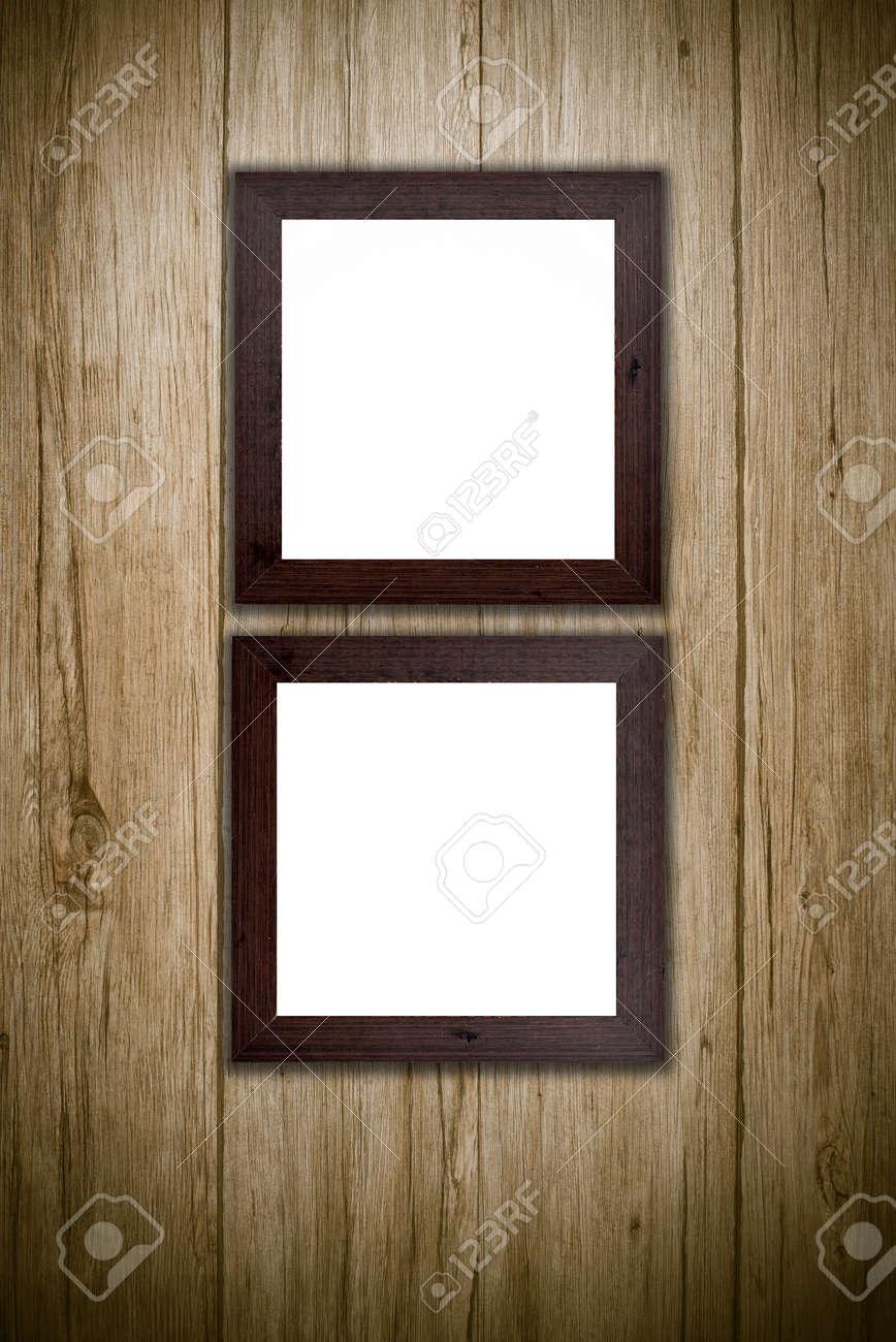 Foto Oder Gemälderahmen Auf Holzuntergrund. Lizenzfreie Fotos ...
