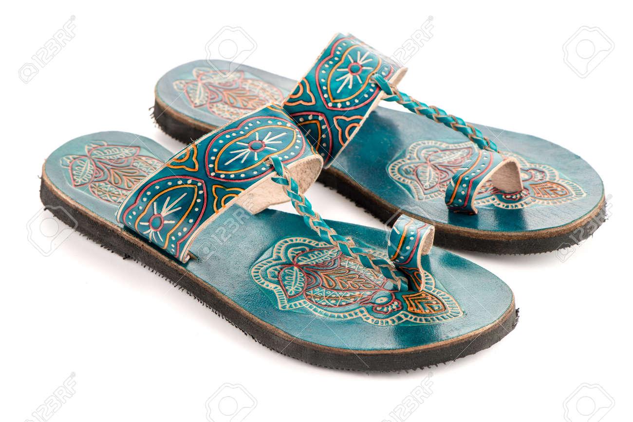 Étnico Diseño India Mujer De Sandalias La Cuero W9YHDEI2