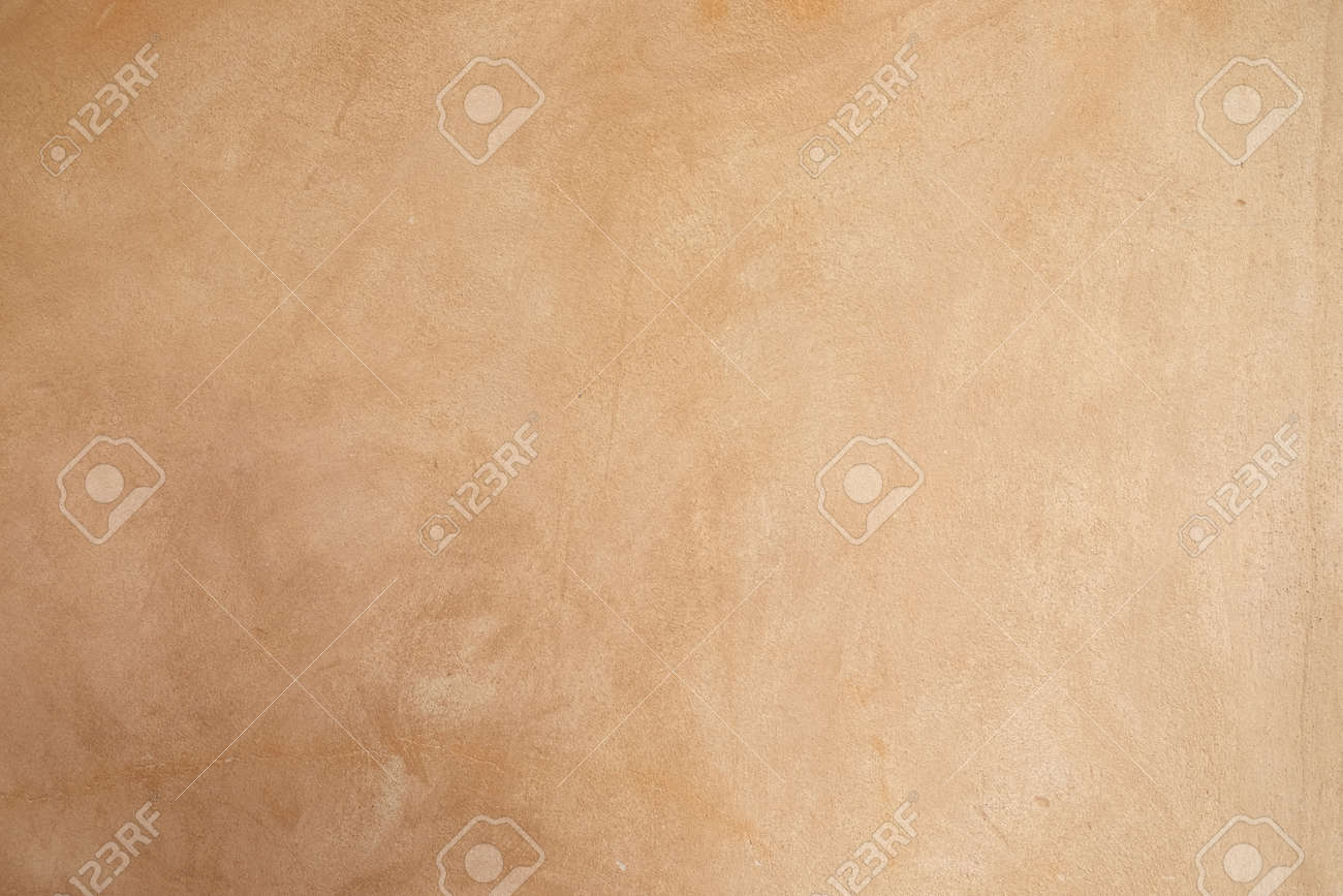 Stone Age Sand Color Wall Paint Texture Close Up Background Stock