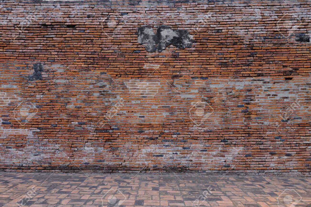 The ancient wall is an important tourist attraction in Ayutthaya. - 142670598