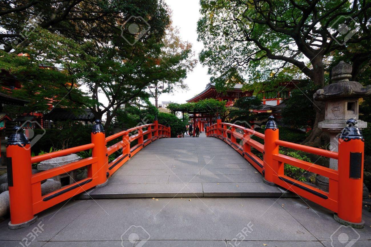 red bridge. Stock Photo - 11209207