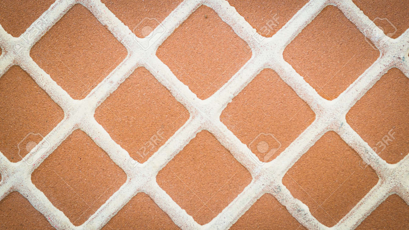 Close Up Braun Quadrat Mosaik Fliesen Muster Und Hintergrund