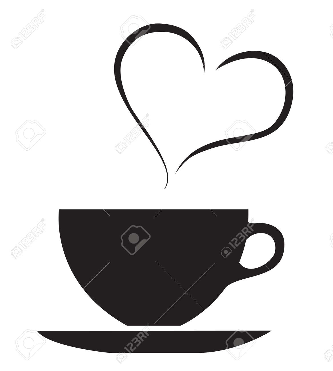 the love of hot drink coffee cup vector royalty free cliparts rh 123rf com cup vector free download cup vector icon
