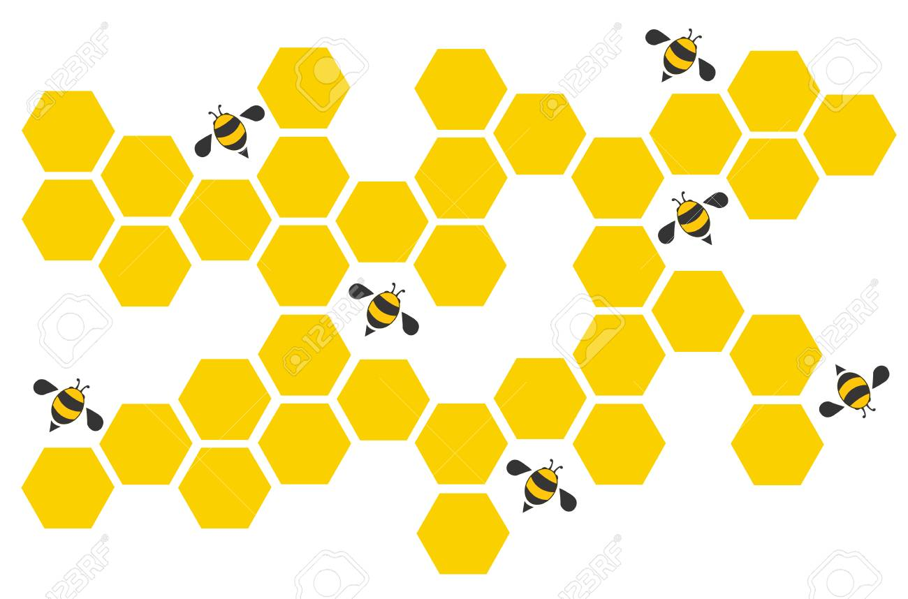 Hexagon Bee Hive Design Art And Space Background Vector Royalty Free Cliparts Vectors And Stock Illustration Image 87771961