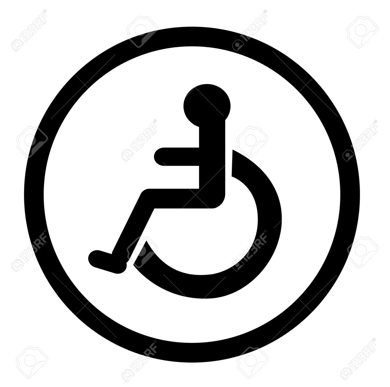 Bathroom For Persons With Disabilities Disabled Toilet Signs Stock Vector
