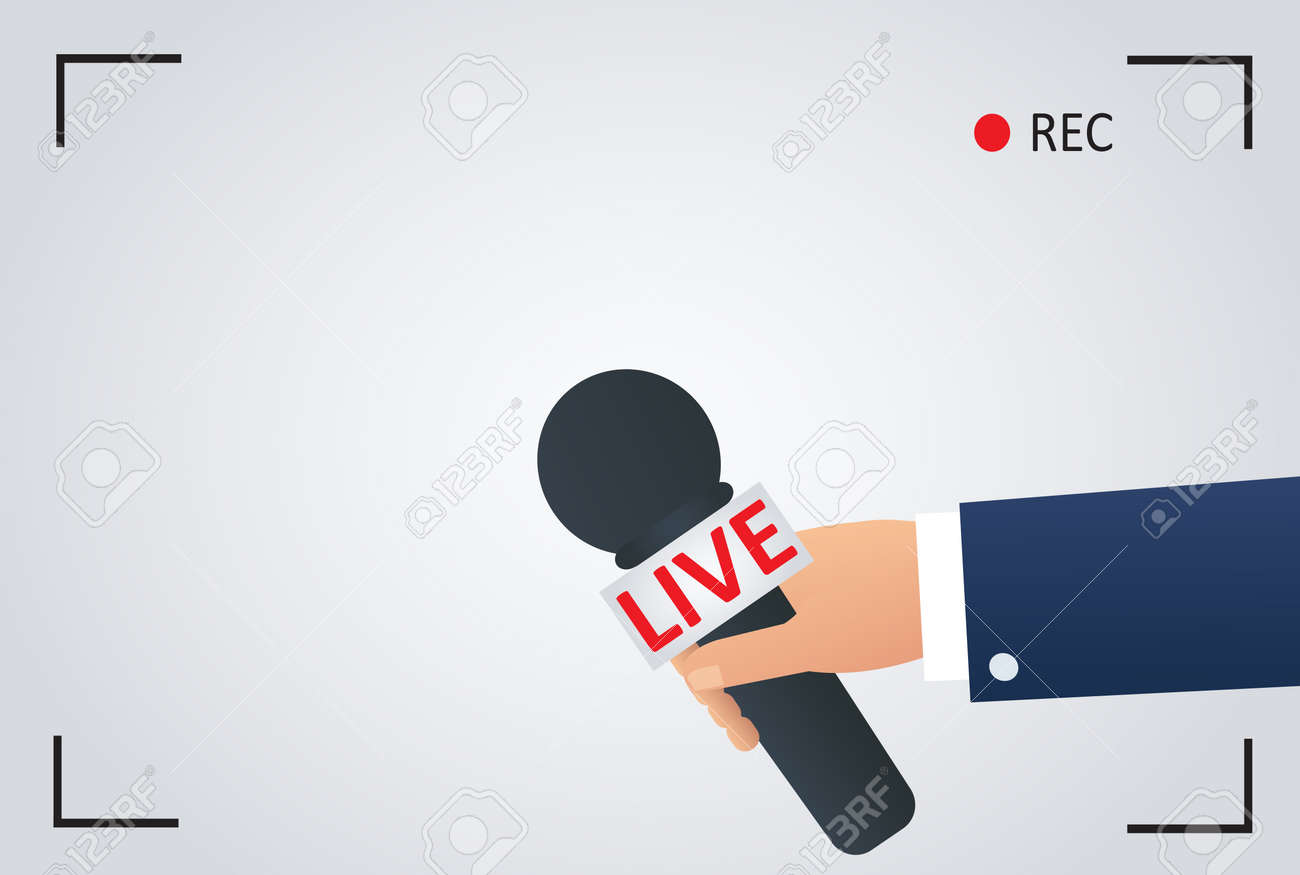 News Illustration On Focus Tv And Live With Camera Frame Record ...