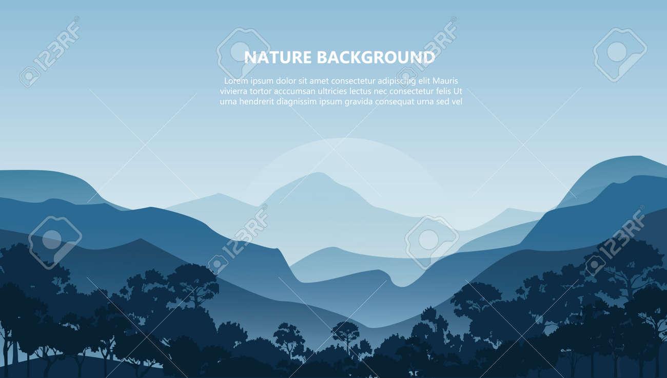 mountain landscape background vector illustration EPS10 - 141662642