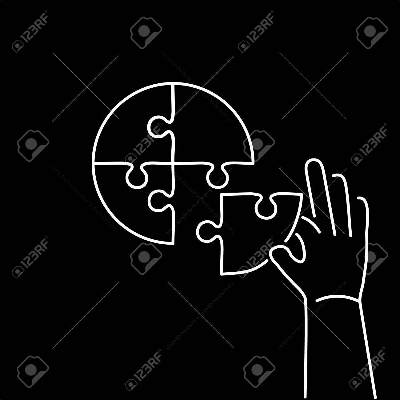 Conceptual vector icon of person making puzzle to pie chart conceptual vector icon of person making puzzle to pie chart modern flat design marketing and nvjuhfo Choice Image