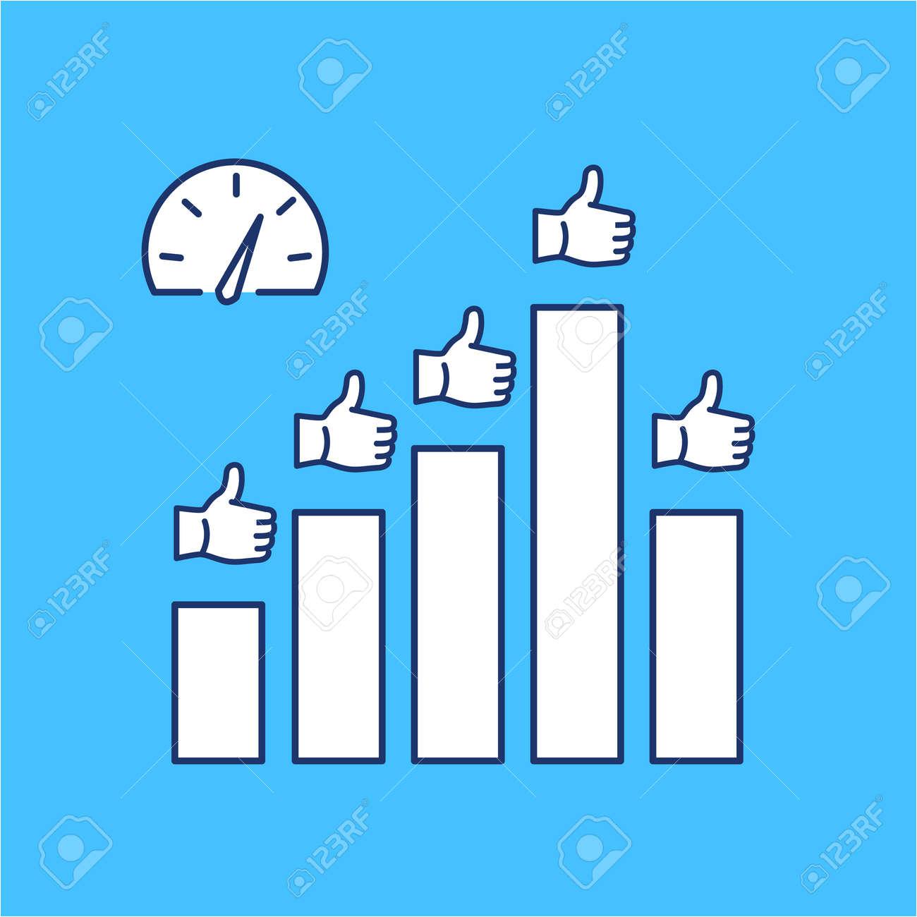 Vector Icono Conceptual De KPI - Indicadores Clave De Rendimiento ...