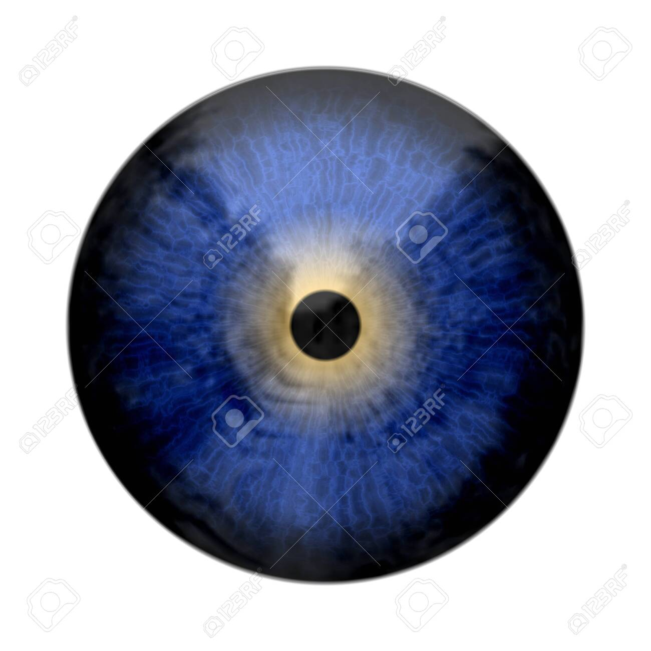 Eye, abstract digitally generated illustration for science, futuristic concepts, as backgrounds etc. - 128379837