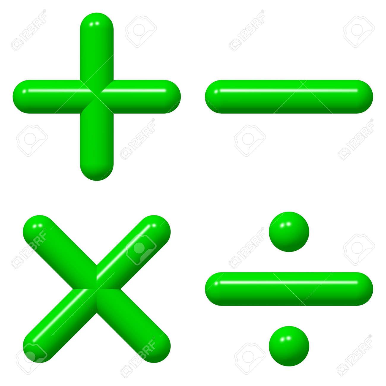 Shiny math symbols isolated on white Stock Photo - 3560383