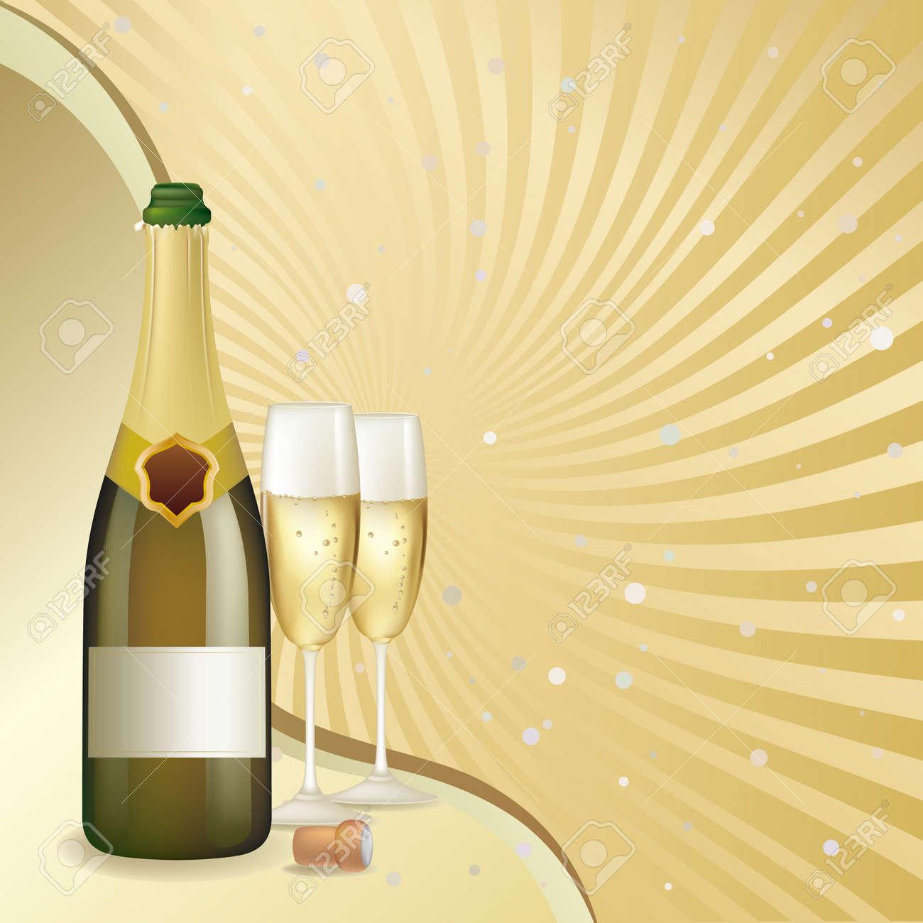 celebration champagne background Stock Vector - 7477063