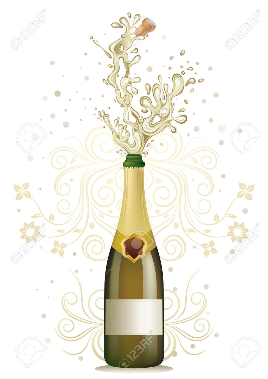 champagne explosion, floral Stock Vector - 7499552