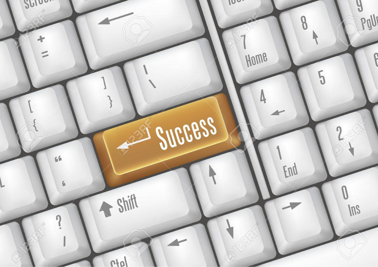 keyboard buttons - success Stock Vector - 7528607