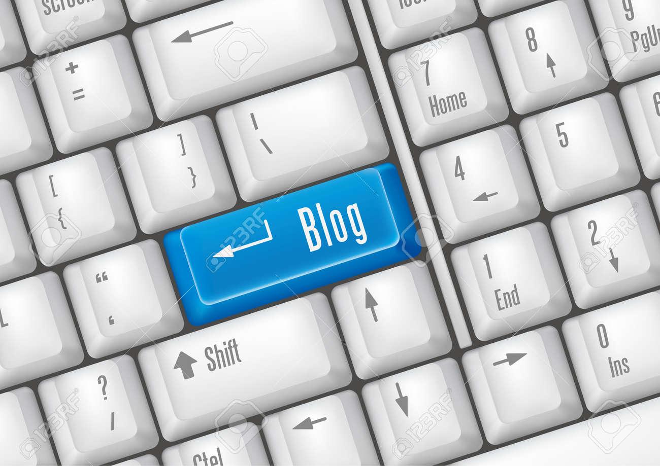 keyboard buttons - blog Stock Vector - 7528594